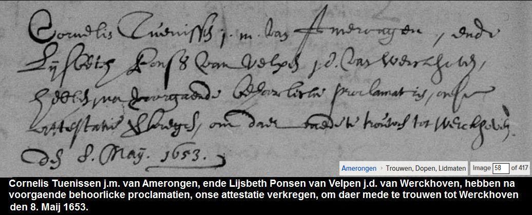 Descendants Of Cornelis Bosch